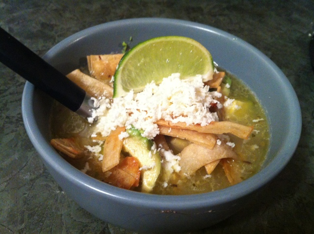 Shredded Chicken Mexican Lime Soup
