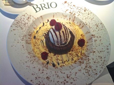 Brio Dessert Motlen Chocolate Cake