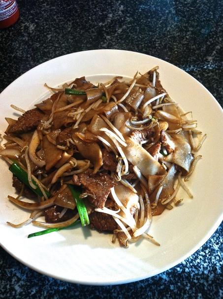 La Cai Noodle House Flat Noodle with Beef