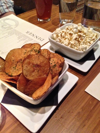 Duck Fat Popcorn, Pale Ale Potato Chips