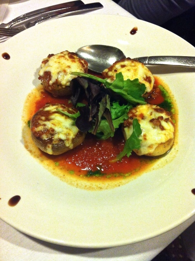 Roma Stuffed Mushrooms