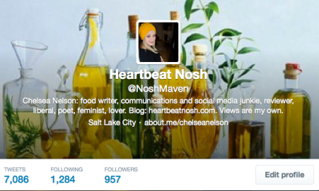 NoshMaven Twitter