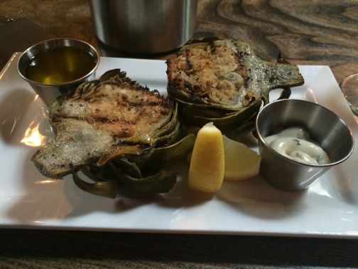 Whiskey Street Crab Stuffed Artichoke