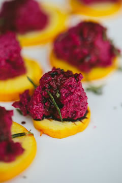 FOOD_zest_kitchen_Roasted_Beet_Dip_on_Local_Tomatoes^TJP_1038_2013_TOTW_fs