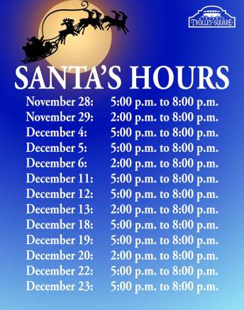 Trolley Square Santa Hours 2014