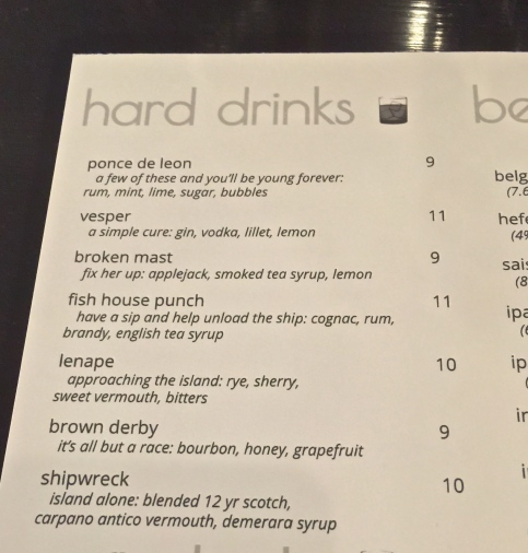 Current Hard Drinks, Cocktails