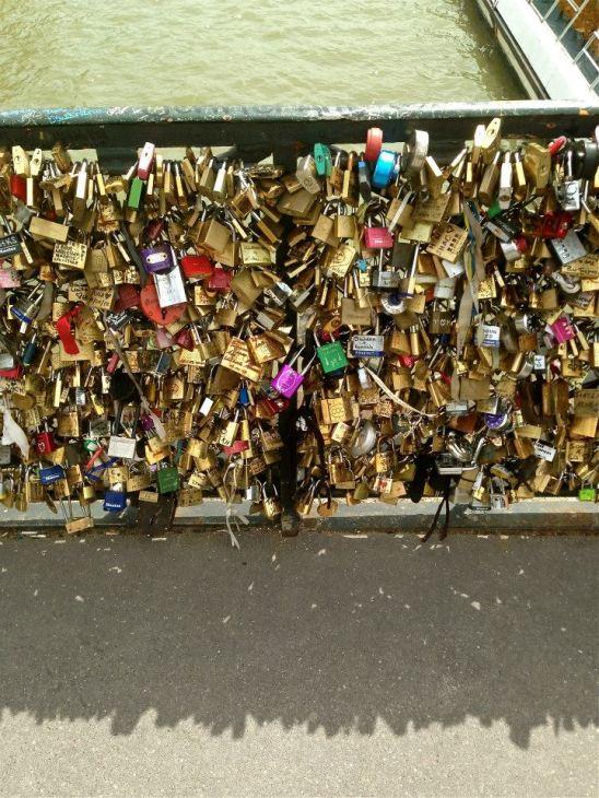 Pont des Arts Love Lock Bridge