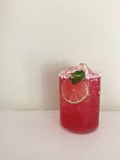 Hibiscus Stinger Cocktail