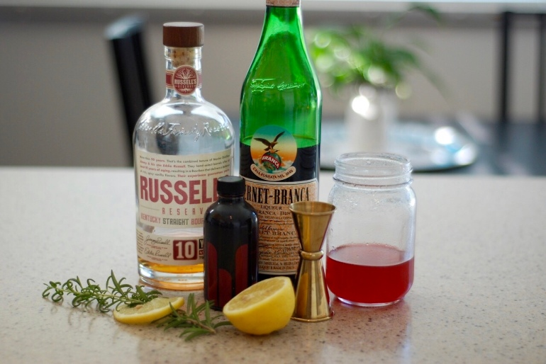 Raspberry Bourbon Cocktail
