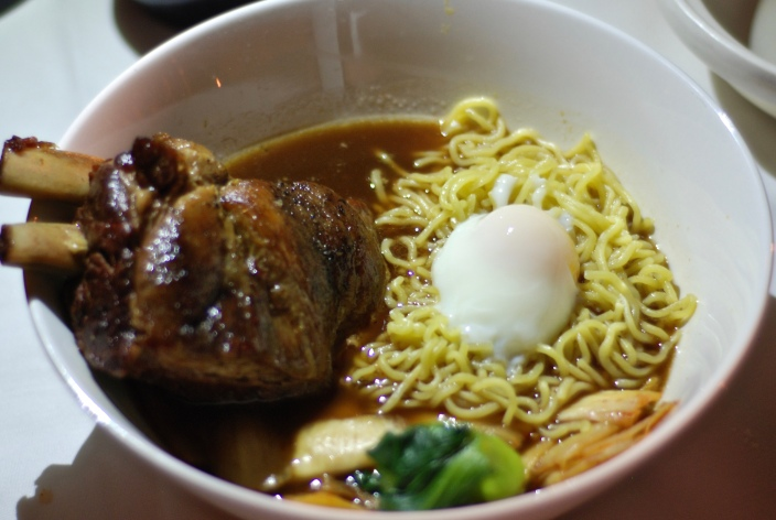 Pork Short Rib Ramen kim chee / ramen noodles / sous vide egg / aromatic broth