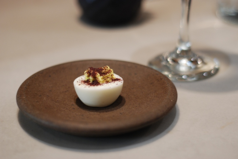 Deviled Egg with Tomato Chutney