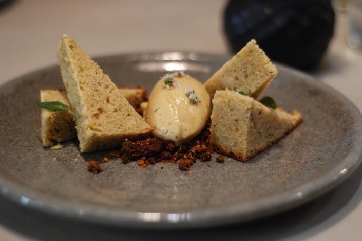 Zucchini Bread: Molasses Ice Cream, Flaxseed Granola, $9