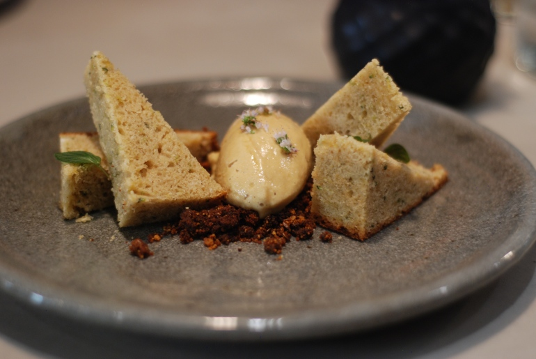 Zucchini Bread: Molasses Ice Cream, Flaxseed Granola, $9