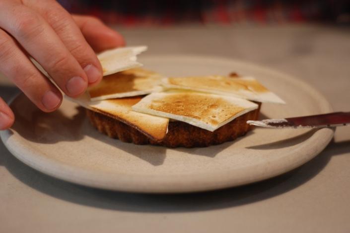 Solstice Chocolate Tart: Orange and Meringue, $9